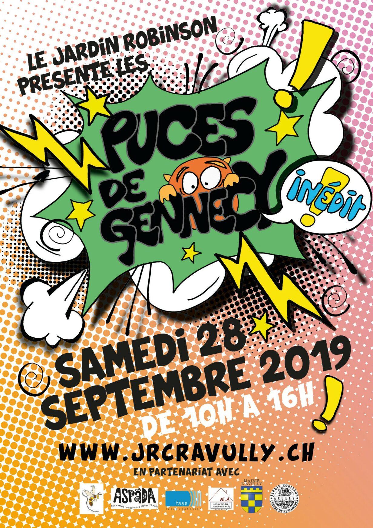 affiches puces de Gennecy samedi 28 septembre 10h-16h